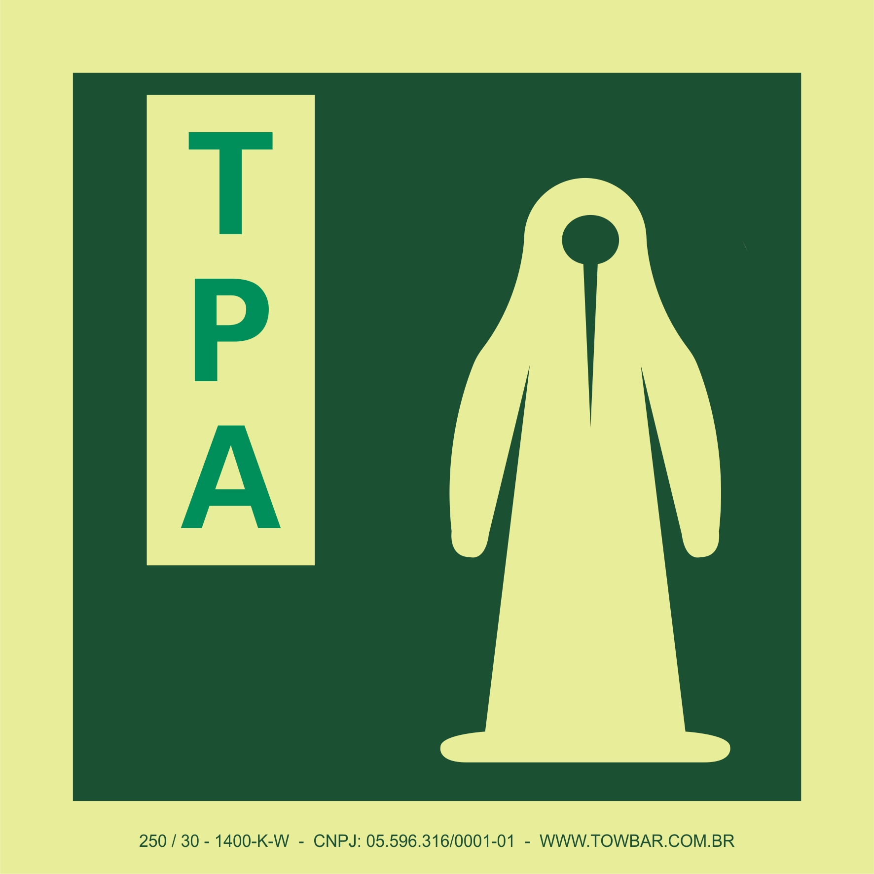 Auxiliar de proteção térmica (Thermal Protective Aid - TPA)  - Towbar Sinalização de Segurança