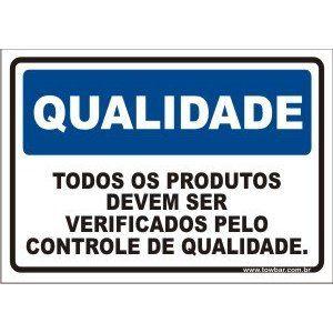 Todos os produtos devem ser verificado pelo setor de qualidade  - Towbar Sinalização de Segurança
