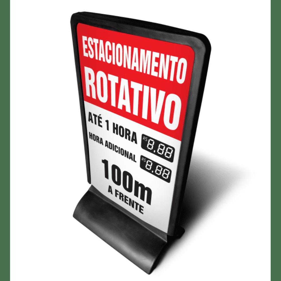 Totem de publicidade em plástico  - Towbar Sinalização de Segurança