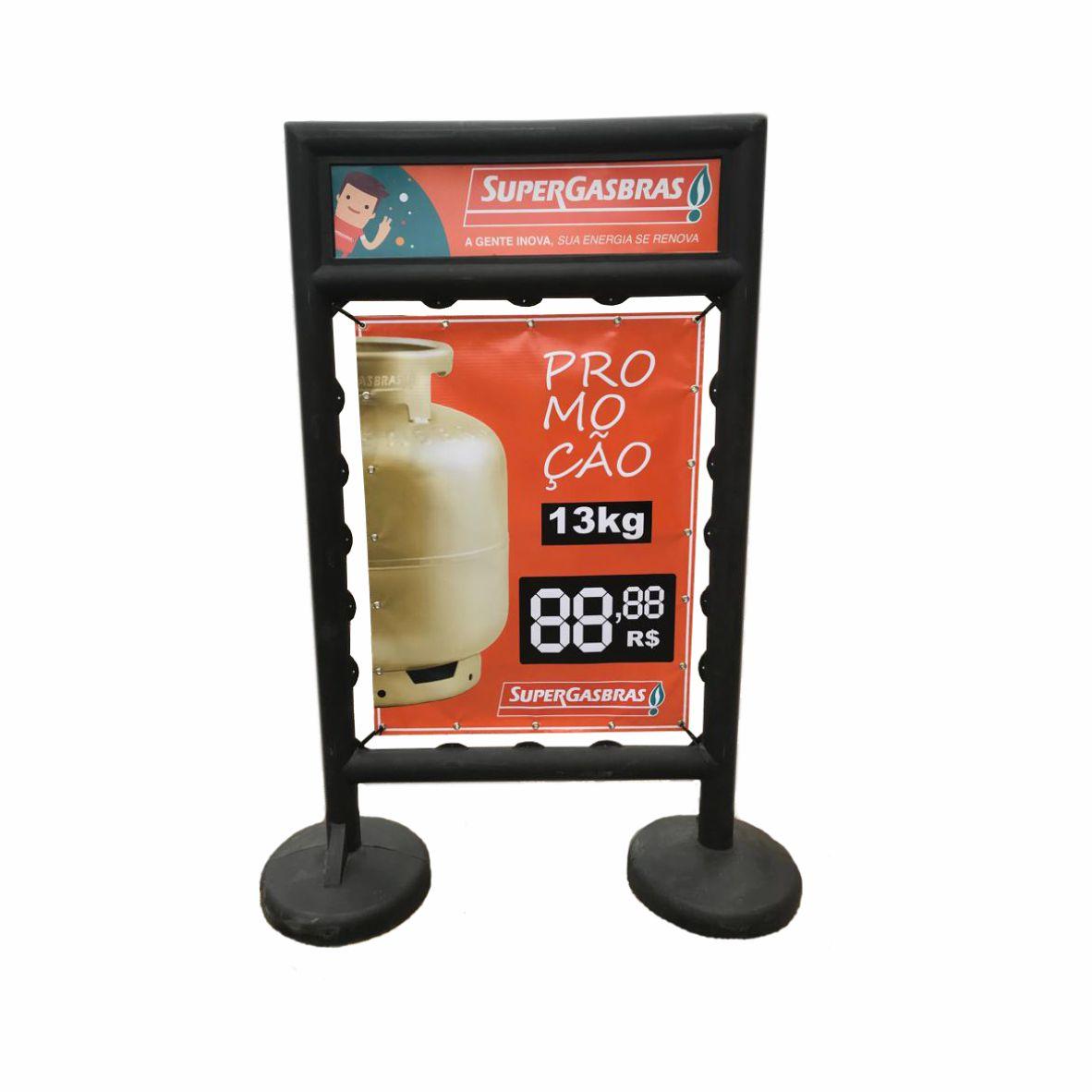 Totem de publicidade em plástico com banner  - Towbar Sinalização de Segurança