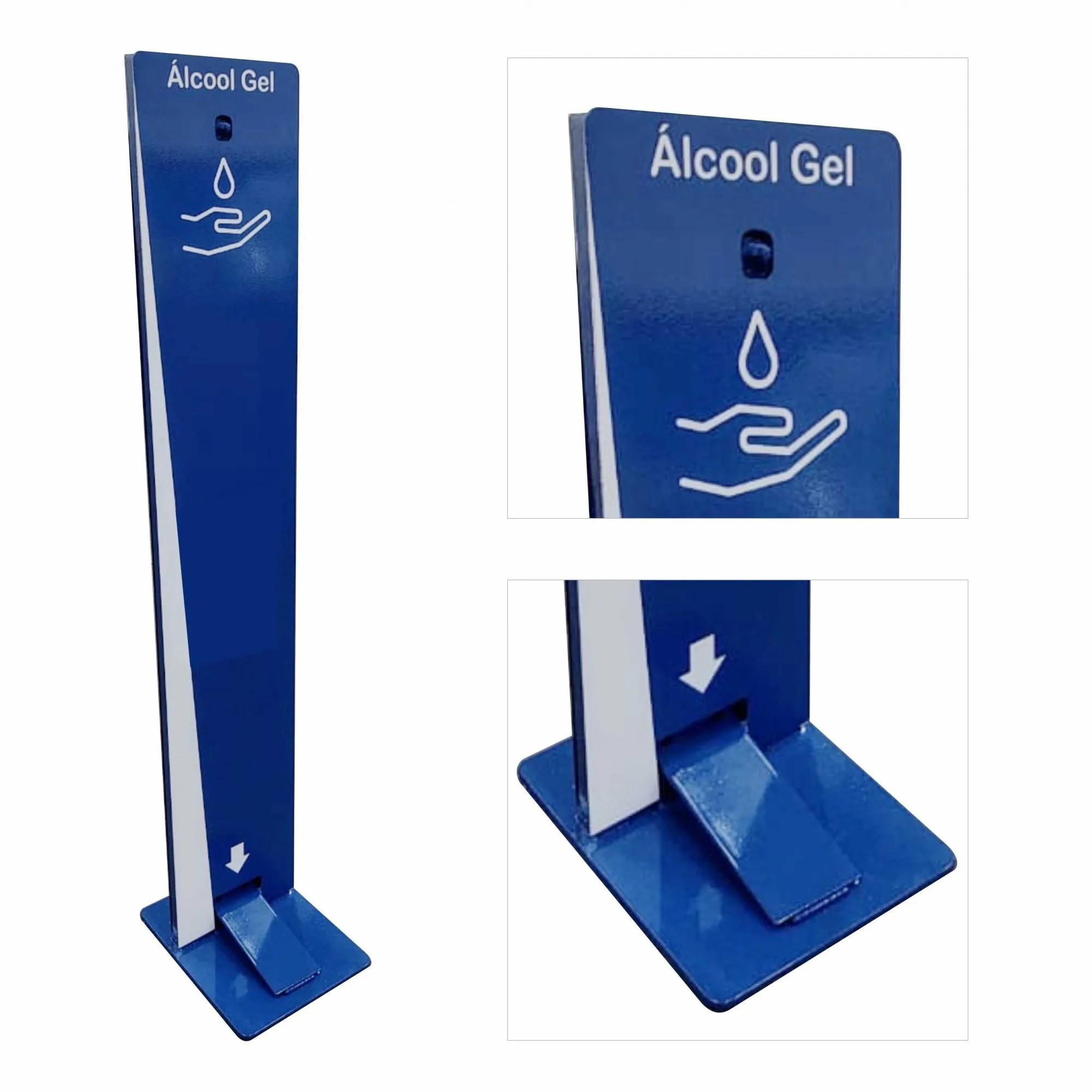 Totem para álcool em gel com pedal   - Towbar Sinalização de Segurança