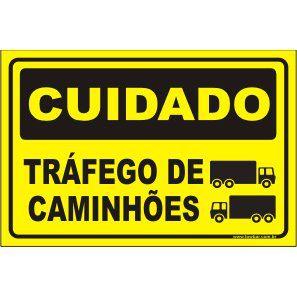 Tráfego de Caminhões  - Towbar Sinalização de Segurança