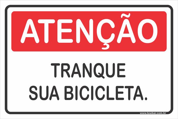 Tranque Sua Bicicleta  - Towbar Sinalização de Segurança