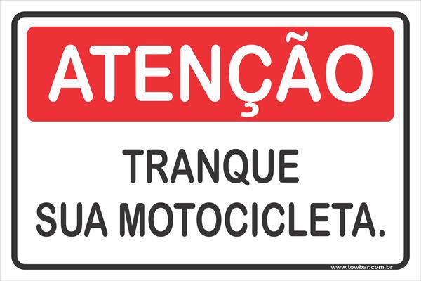 Tranque Sua Motocicleta  - Towbar Sinalização de Segurança