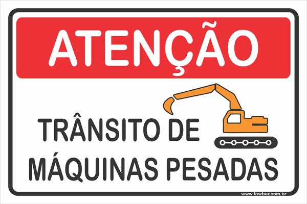 Trânsito de Máquinas Pesadas  - Towbar Sinalização de Segurança