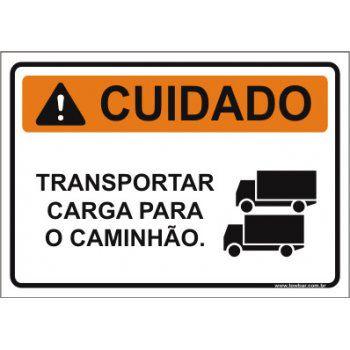 Transportar carga para o caminhão  - Towbar Sinalização de Segurança