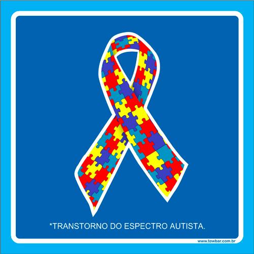 Placa transtorno do espectro autista  - Towbar Sinalização de Segurança