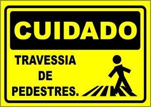 Travessia de Pedestres  - Towbar Sinalização de Segurança