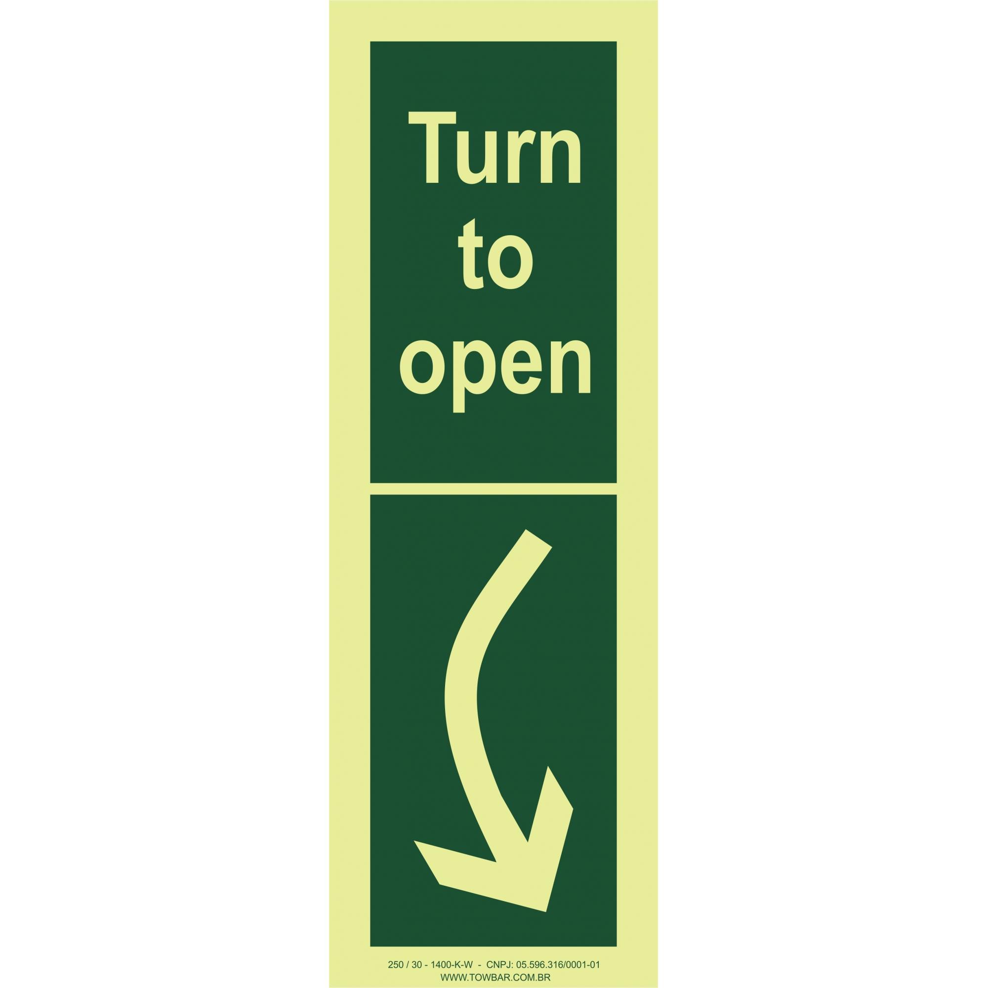 Turn to Open right  - Towbar Sinalização de Segurança