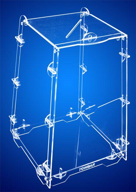 Urna Tipo Pirâmide - acrílico cristal 3mm  - Towbar Sinalização de Segurança
