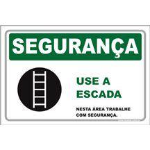 Use a escada  - Towbar Sinalização de Segurança