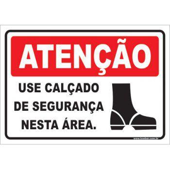 Use Calçado de Segurança Nesta Área  - Towbar Sinalização de Segurança
