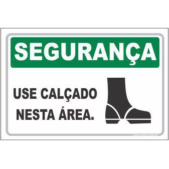 Use calçado nesta área  - Towbar Sinalização de Segurança
