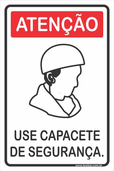 Use Capacete de Segurança.  - Towbar Sinalização de Segurança