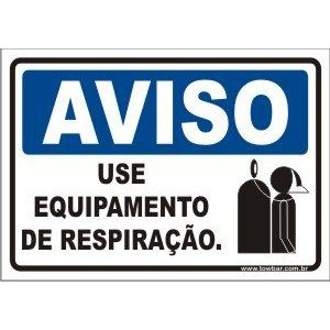 Use Equipamento de Respiração.  - Towbar Sinalização de Segurança