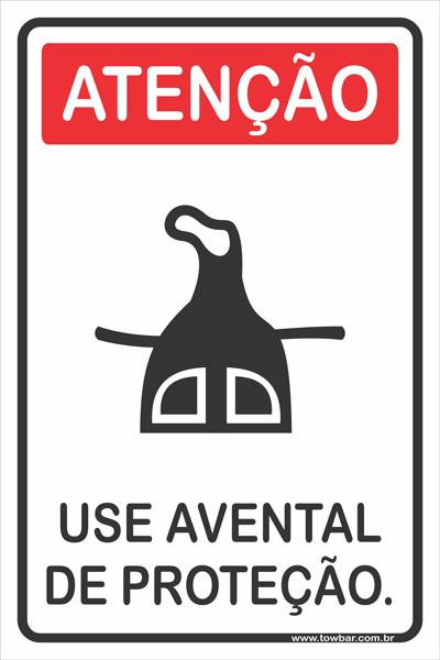 Use Protetor Avental  - Towbar Sinalização de Segurança