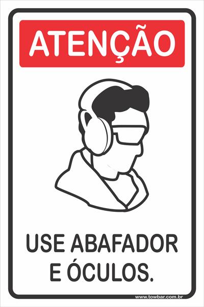 Use Protetor de Ouvidos.  - Towbar Sinalização de Segurança