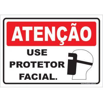 Use Protetor Facial  - Towbar Sinalização de Segurança