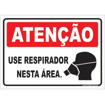 Use Respirador Nesta Área  - Towbar Sinalização de Segurança