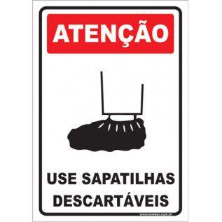Use Sapatilhas Descartáveis  - Towbar Sinalização de Segurança
