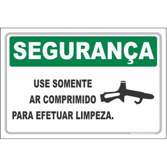Use somente ar comprimido para limpeza  - Towbar Sinalização de Segurança