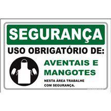 Uso Obrigatório de aventais e mangotes  - Towbar Sinalização de Segurança