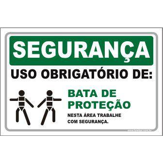 Uso Obrigatório de Bata de Proteção  - Towbar Sinalização de Segurança