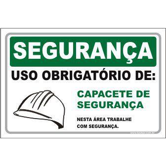 Uso Obrigatório de Capacete de Segurança  - Towbar Sinalização de Segurança
