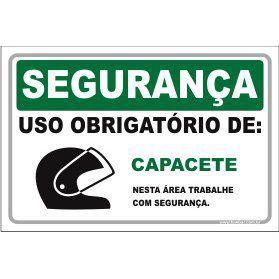 Uso Obrigatório de Capacete  - Towbar Sinalização de Segurança