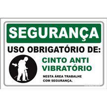 Uso Obrigatório de Cinto Antivibratório   - Towbar Sinalização de Segurança