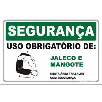 Uso Obrigatório de Jaleco e Mangote  - Towbar Sinalização de Segurança