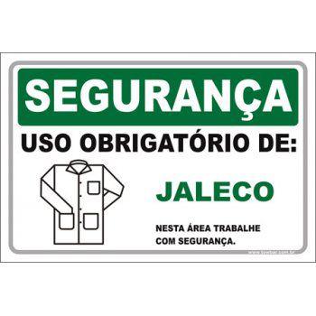 Uso Obrigatório de jaleco  - Towbar Sinalização de Segurança