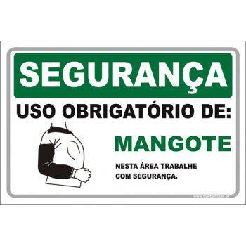 Uso Obrigatório de Mangote  - Towbar Sinalização de Segurança