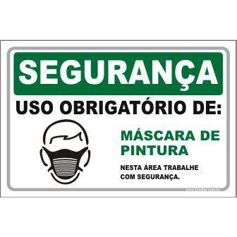 Uso Obrigatório de Máscara de Pintura  - Towbar Sinalização de Segurança