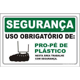 Uso Obrigatório de Pro-pé de Plástico  - Towbar Sinalização de Segurança