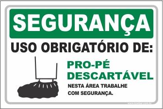 Uso Obrigatório de Pro-pé Descartável  - Towbar Sinalização de Segurança