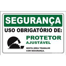 Uso Obrigatório de Protetor Ajustável  - Towbar Sinalização de Segurança
