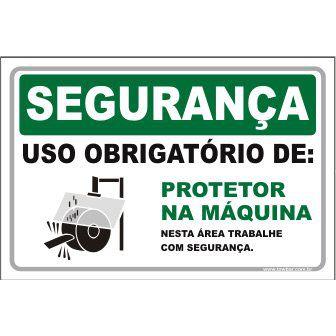 Uso Obrigatório de Protetor na Máquina  - Towbar Sinalização de Segurança