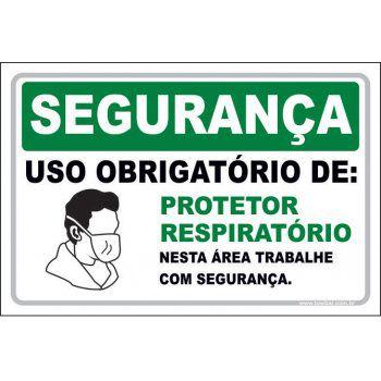 Uso Obrigatório de protetor respiratório  - Towbar Sinalização de Segurança