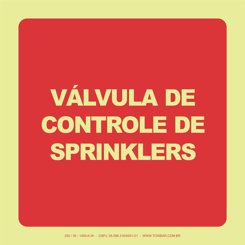 Válvula de Controle de Sprinklers  - Towbar Sinalização de Segurança