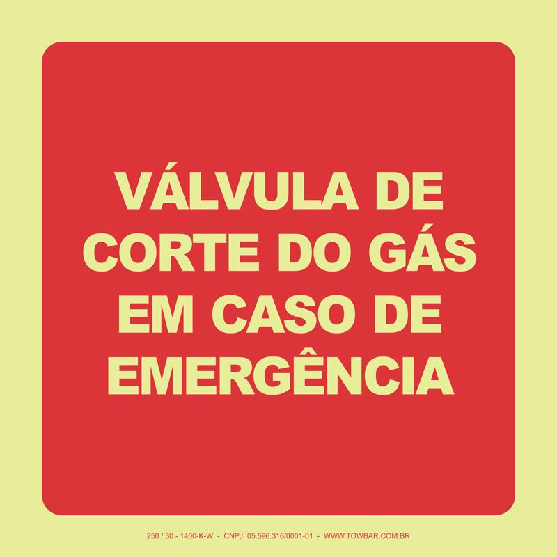 Válvula de Corte do Gás Em Caso de Emergência   - Towbar Sinalização de Segurança