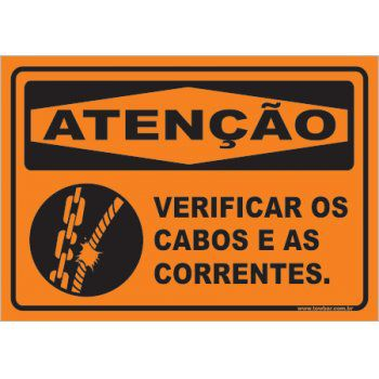 Verificar Os Cabos e As Correntes  - Towbar Sinalização de Segurança