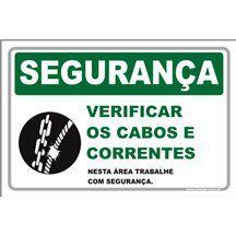 Verificar os Cabos e Correntes  - Towbar Sinalização de Segurança
