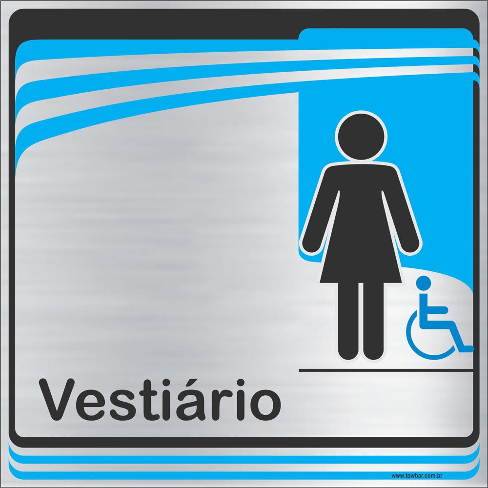 Identificação Vestiário feminino inclusivo (20x20cm)  - Towbar Sinalização de Segurança