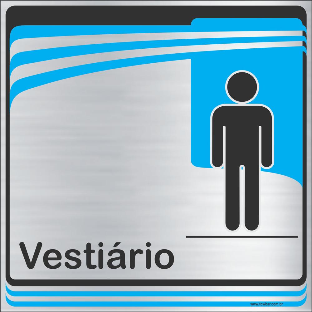 Identificação Vestiário masculino (20x20cm)  - Towbar Sinalização de Segurança