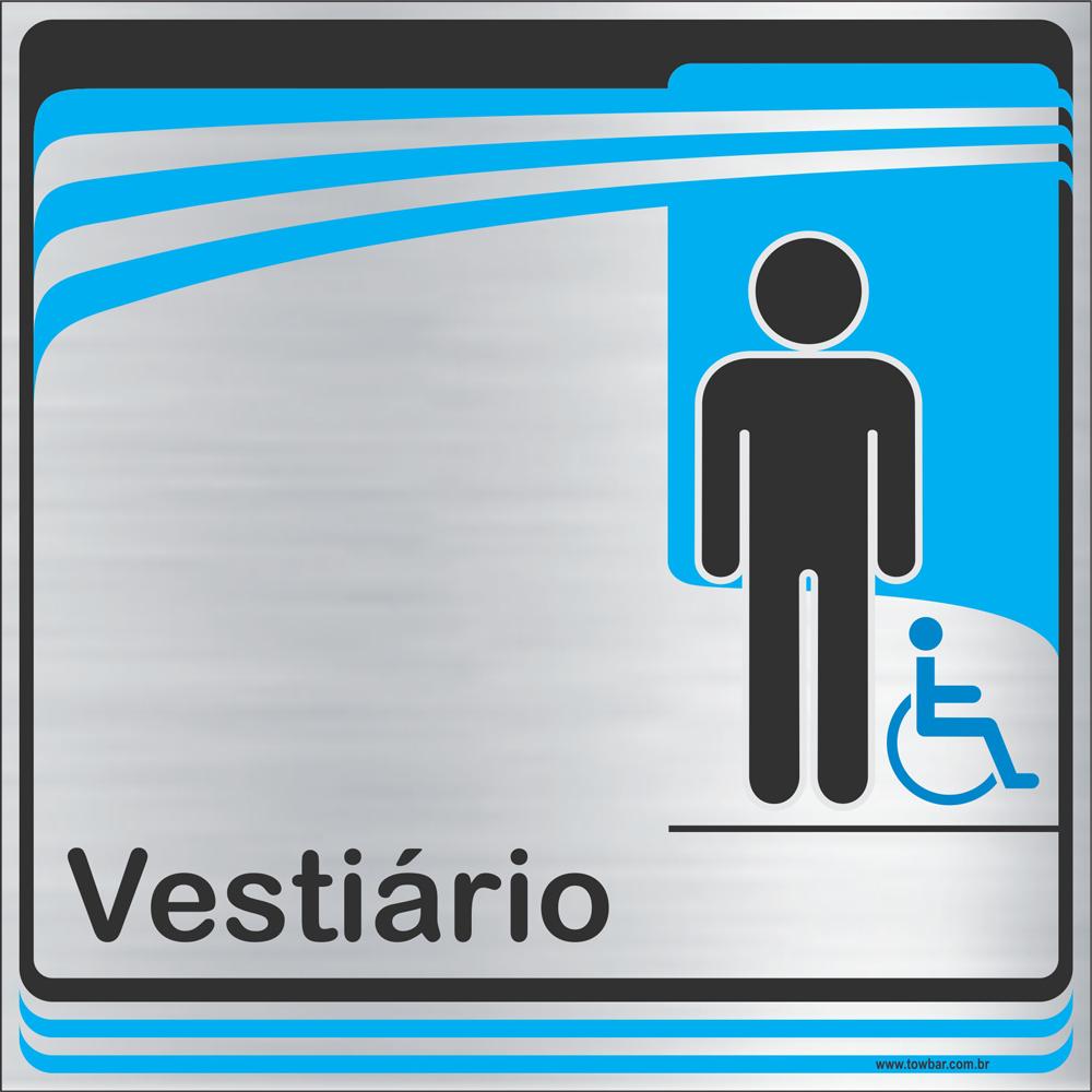 Identificação Vestiário masculino inclusivo (20x20cm)  - Towbar Sinalização de Segurança