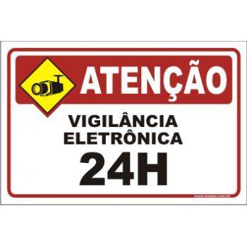 Vigilância eletrônica 24 horas  - Towbar Sinalização de Segurança
