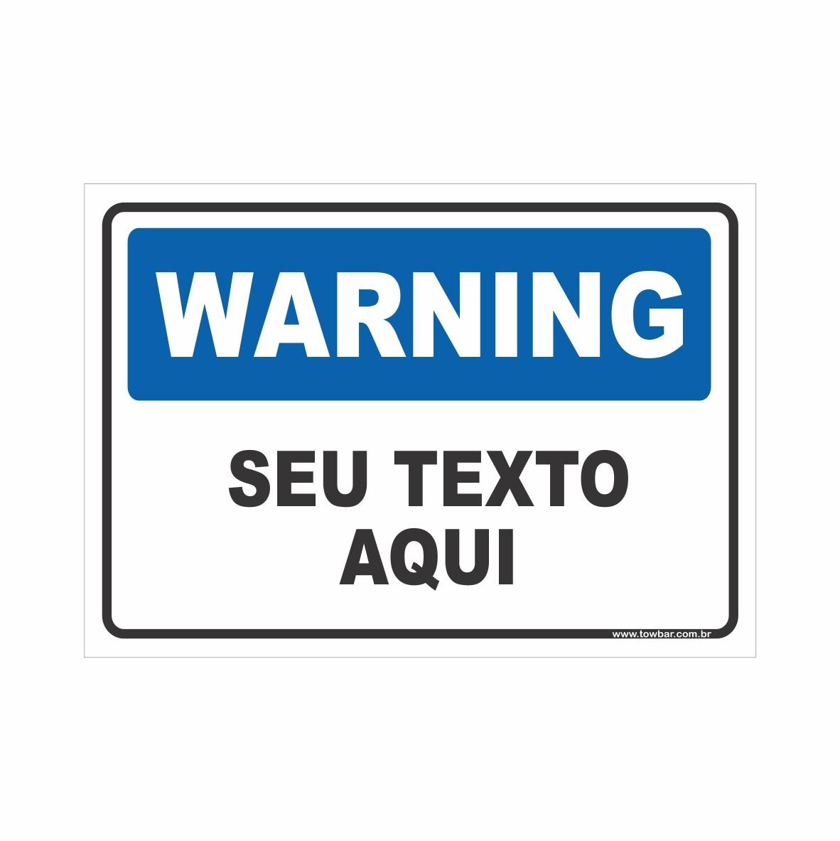 Warning  - Towbar Sinalização de Segurança