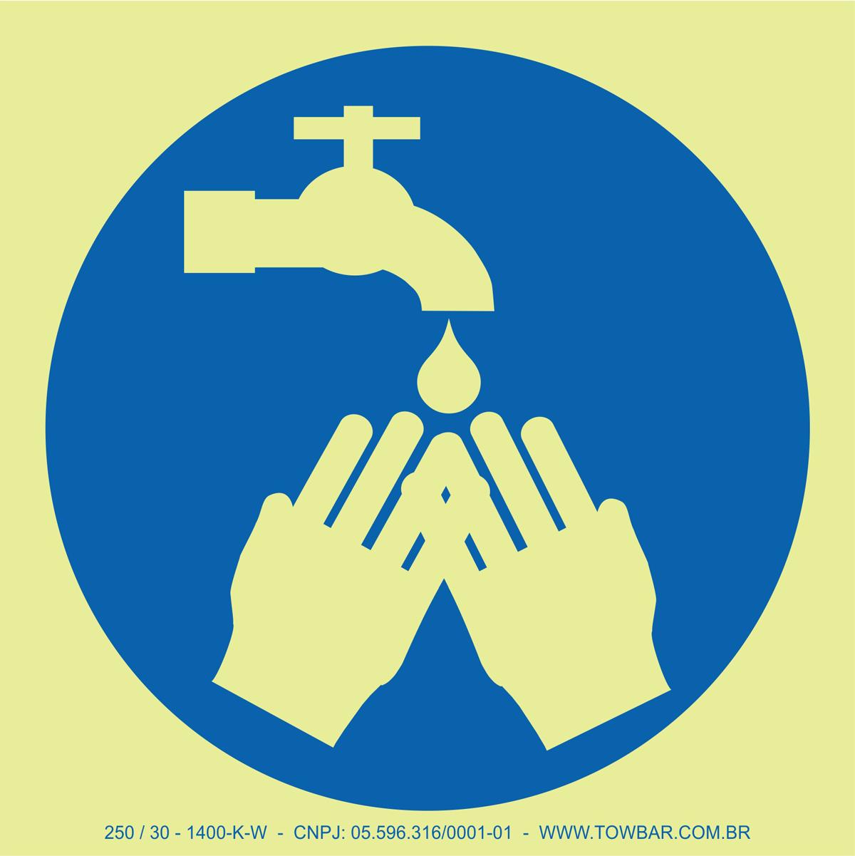 Wash Your Hands  - Towbar Sinalização de Segurança