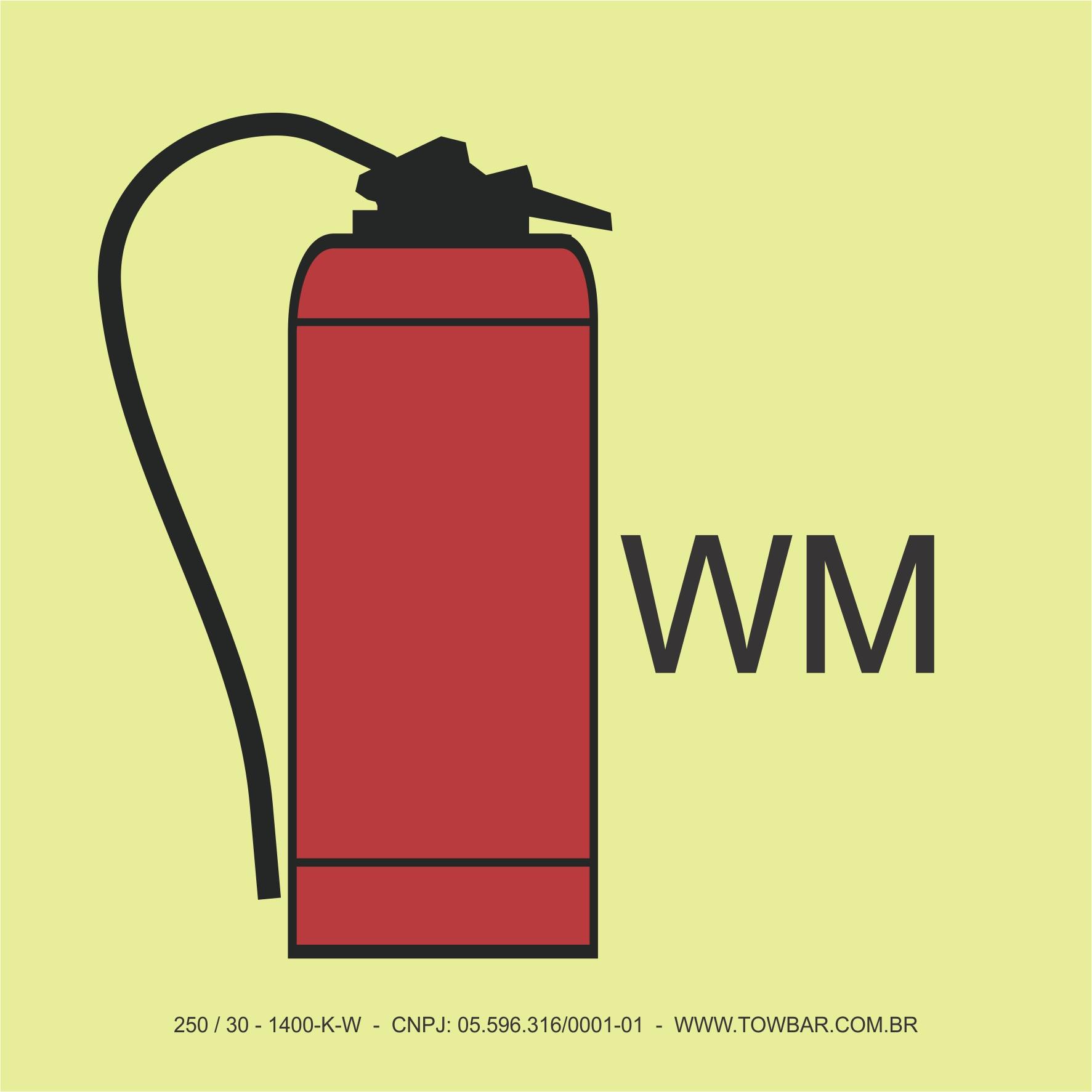 Extintor de Névoa de Água (Water mist fire extinguisher)  - Towbar Sinalização de Segurança